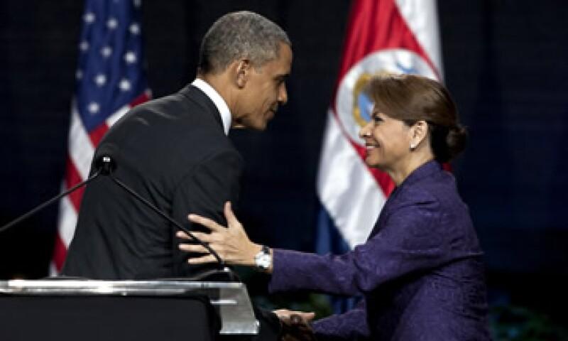 La mandataria explicó en rueda de prensa que la idea costarricense es aprovechar la plataforma del tratado de libre comercio. (Foto: AP)