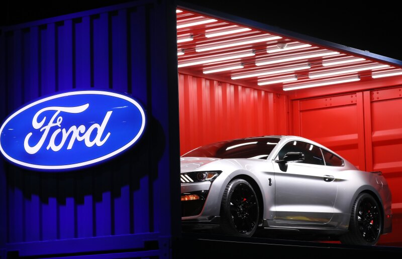 Ford Mustang Shelby GT500 is unveiled at the North American International Auto Show in Detroit, Michigan