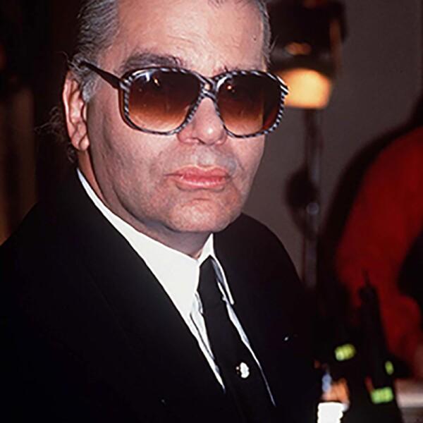 KARL LAGERFELD FASHION DESIGNER LAUNCHING HIS NEW  PERFUME, LONDON, BRITAIN - 1991