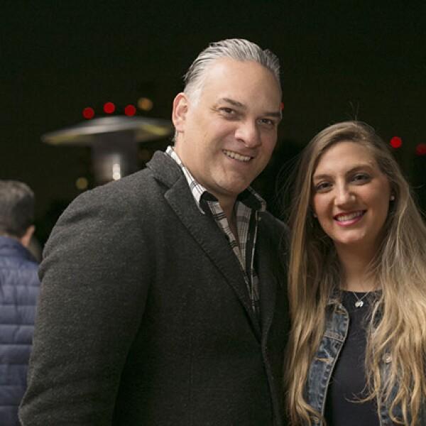 Miguel Salinas y Daniela Saltiel