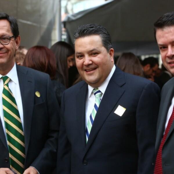 Roberto Campa, Jorge Márquez y Sergio Rocha.