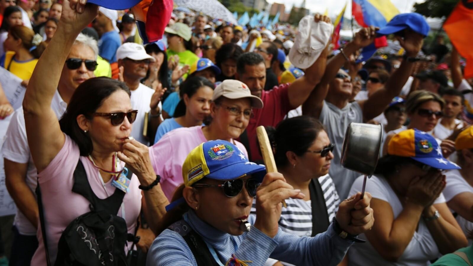 Venezuela opositores Maduro manifestacion