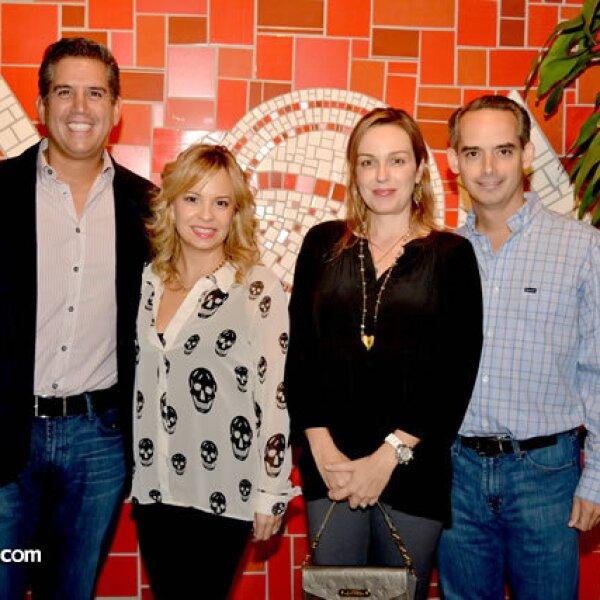 Gerardo Alarcón, Bárbara Canales de Alarcón, Lissa Cagnasso de Elizondo y Federico Elizondo