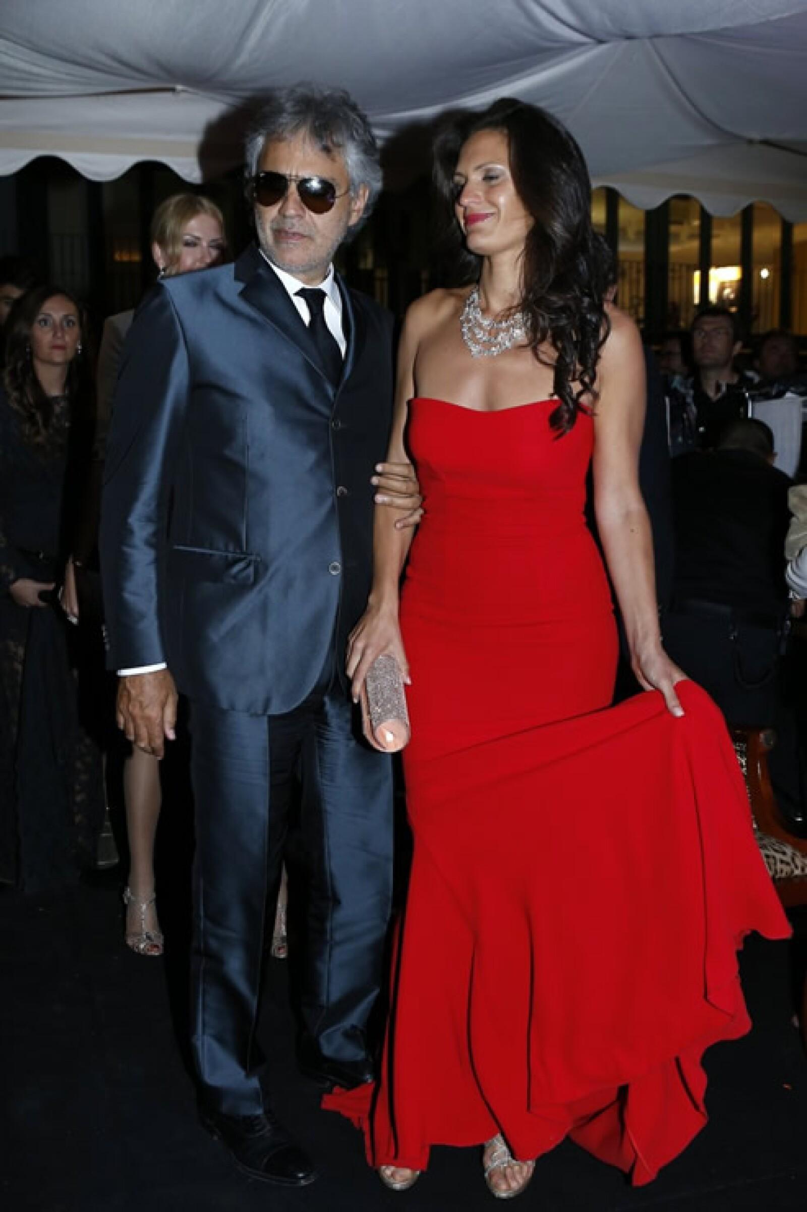 Andrea Bocelli y Veronica Berti