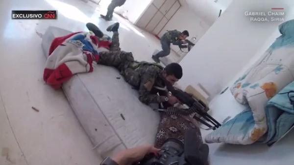 Imágenes de la recuperación de la ciudad siria de Raqqa, grabadas con una GoPro