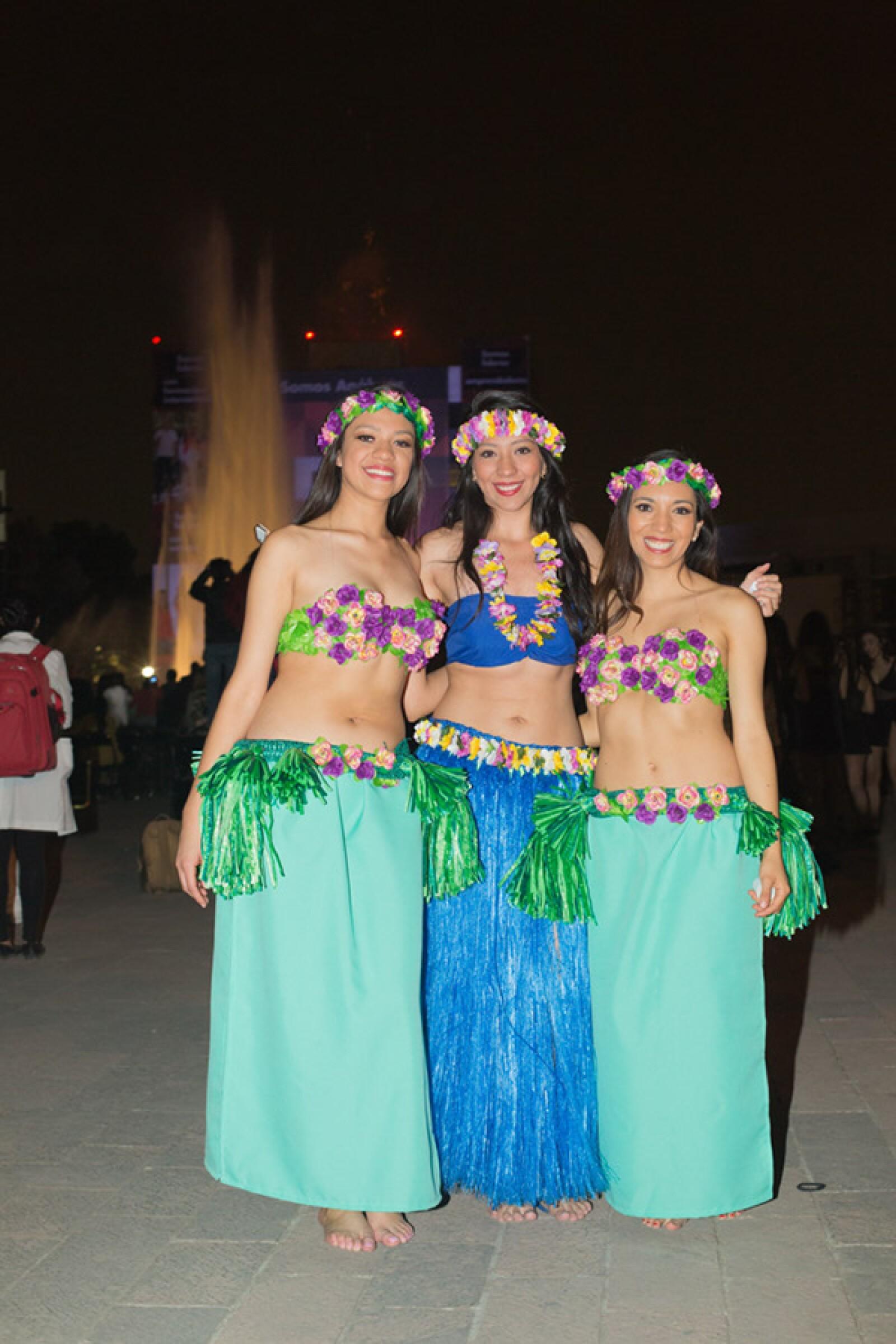 Jimena Díaz, Anahí Vega y Claudia Ramírez
