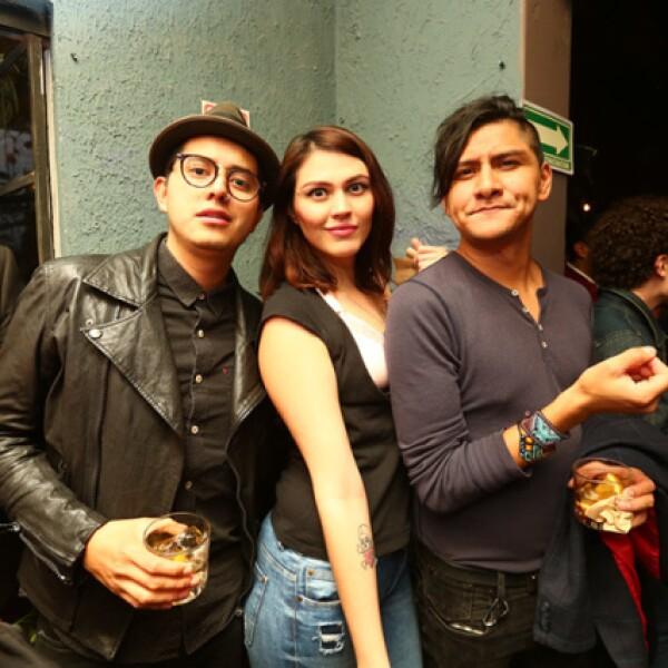 Isaac Morales,Massiel García y Augusto Ledezma