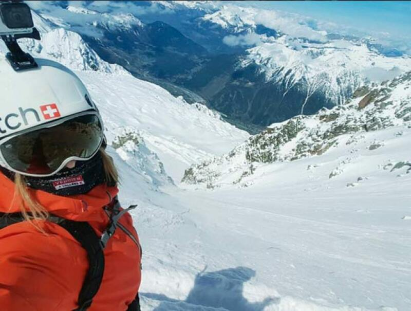 Estelle se encontraba filmando una película en las montañas de Suiza.