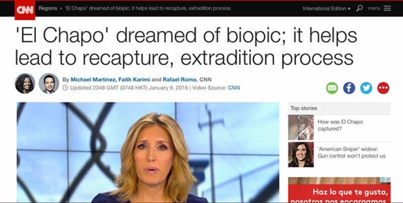 CNN informó sobre la película que 'El Chapo' quería hacer.