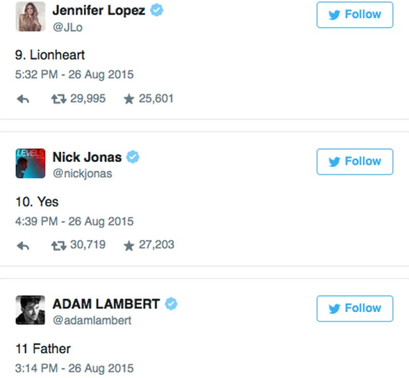 Nick Jonas, amigo de la infancia también apareció en la lista.