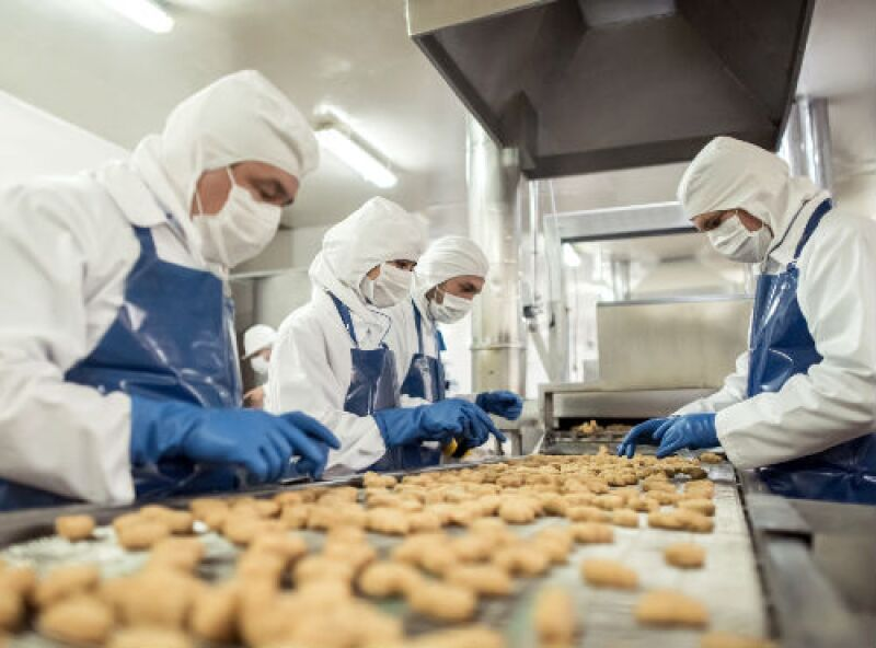 f�brica de alimentos, galletas