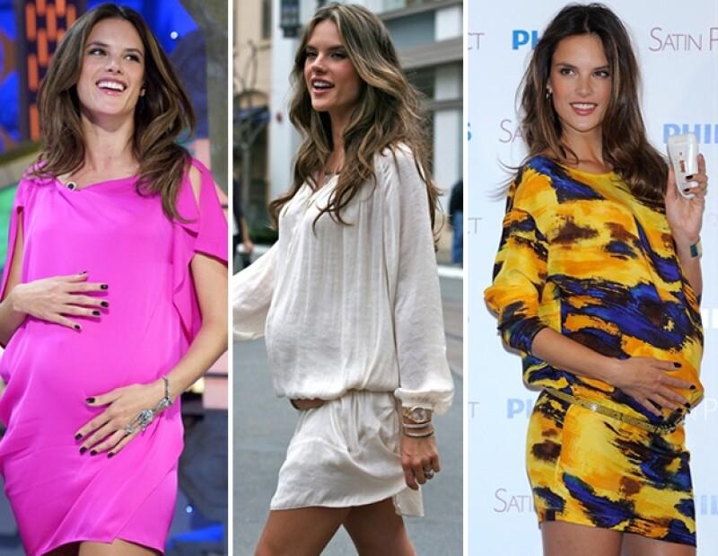 La modelo afirmó que su hija Anja está ansiosa por la llegada del nuevo bebé.