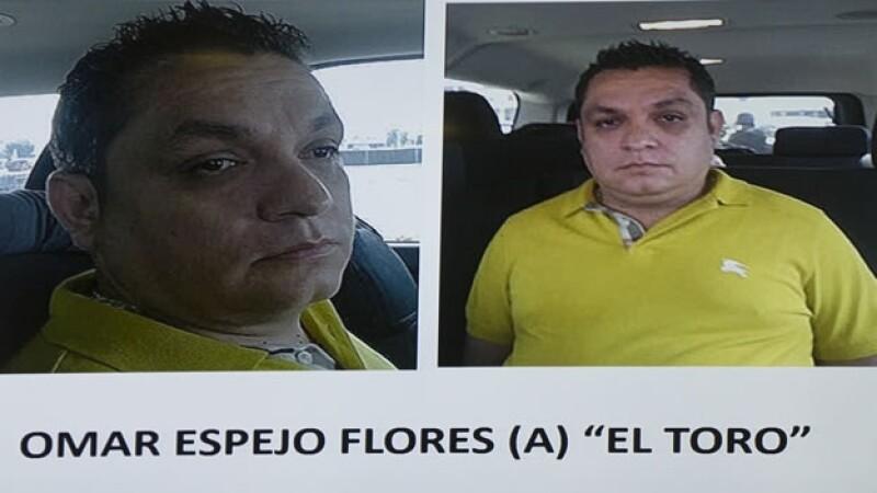 La PGR anunció la detención de Omar Espejo Flores presuntamente relacionado con la desaparición de 2 agentes federales