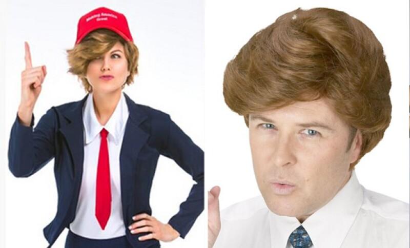 Trump ha sido el personaje más polémico del año y por eso no se escapa de ser imitado.