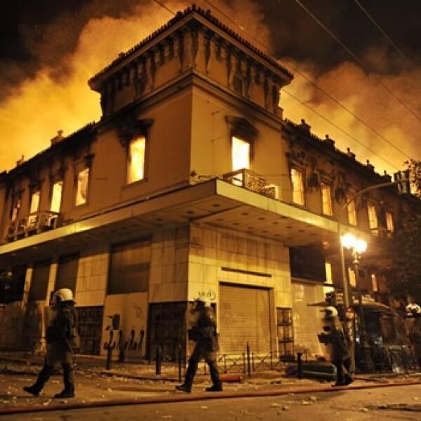 Grecia disturbios austeridad