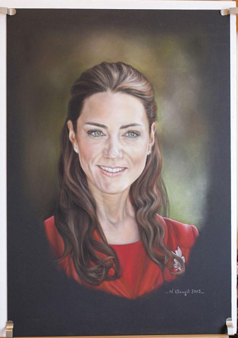 Debido a que el retrato oficial de la Duquesa fue fuertemente criticado, la pintora Norren Denzil, decidió hacer un nuevo lienzo con la cara de la futura mamá, aunque ella no posó para éste.