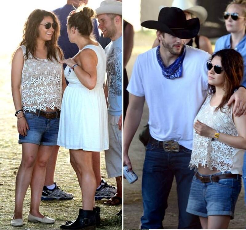 En Coachella pudimos ver los primeros rastros de su pancita.