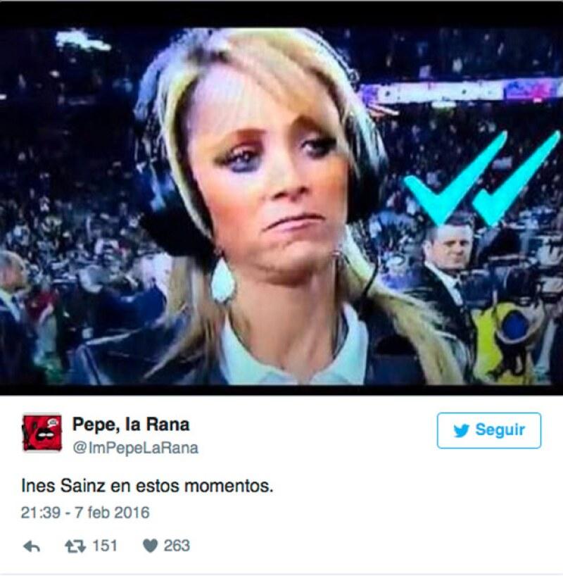 Inés fue, supuestamente, ignorada por los jugadores de la NFL.