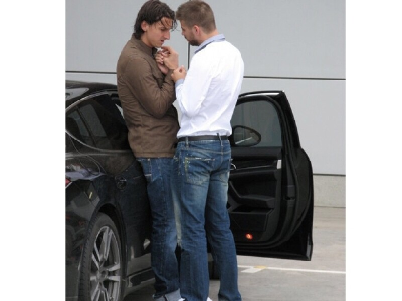 La foto polémica de Piqué e Ibrahimovic meses antes de que el futbolista iniciara su relación con Shakira.