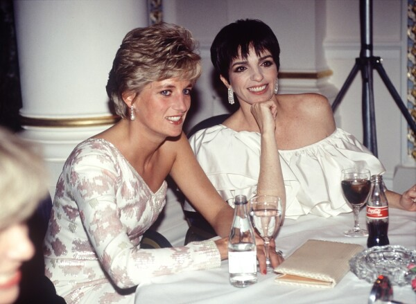Princesa Diana y Liza Minnelli