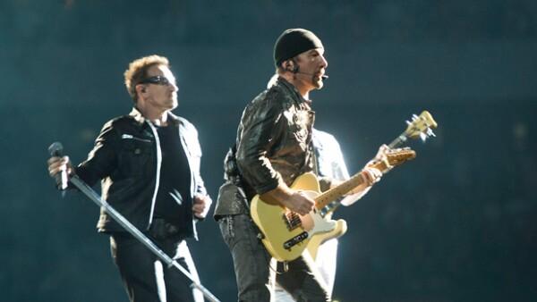La banda irlandesa U2 tuvo que conformarse con el cuarto puesto.