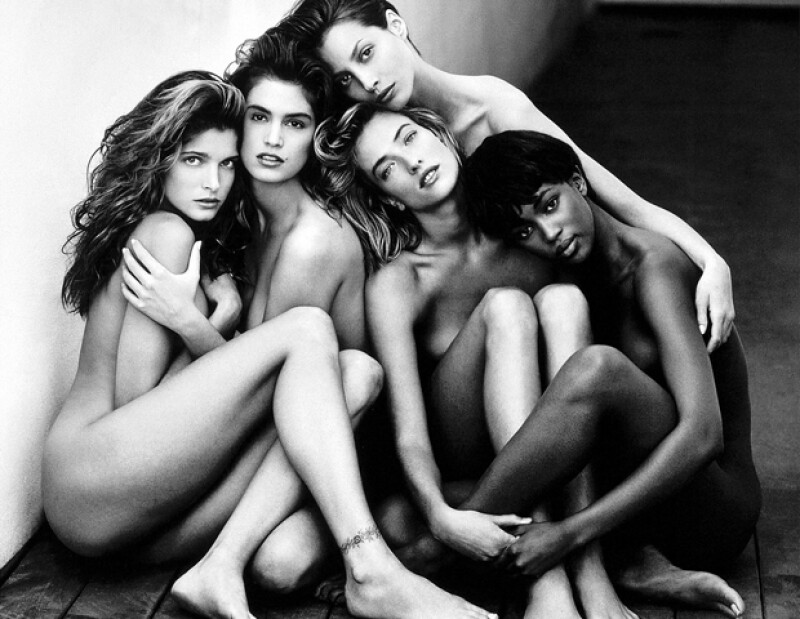 En la década de los 90 las modelos comenzaron a convertirse en celebridades.