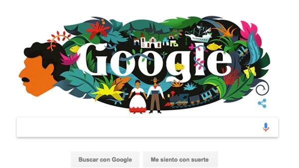 Doodle Gabriel García Márquez