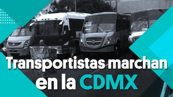 Transportistas colapsan varias vialidades principales de la #CDMX | #Clip