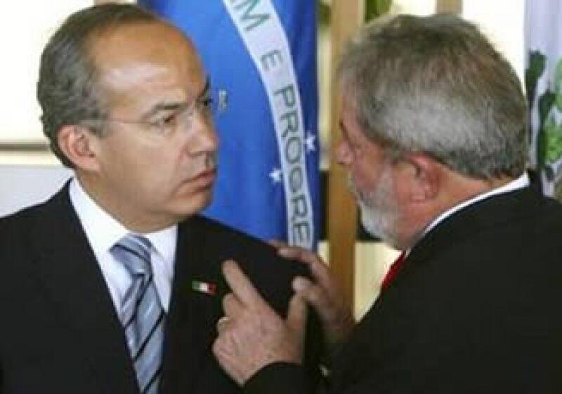 Los mandatarios de México y Brasil esperan aumentar las transacciones comerciales. (Foto: Reuters)