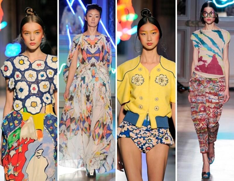 Modelos con looks de Tsumori Chisato