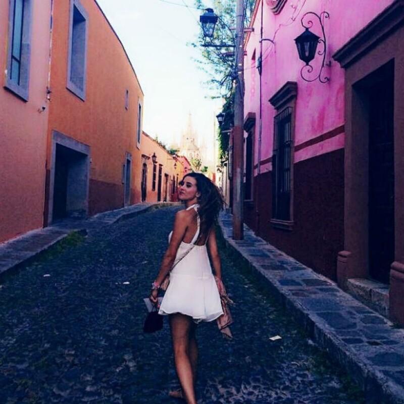 Paulina Goto disfrutó de San Miguel de Allende.
