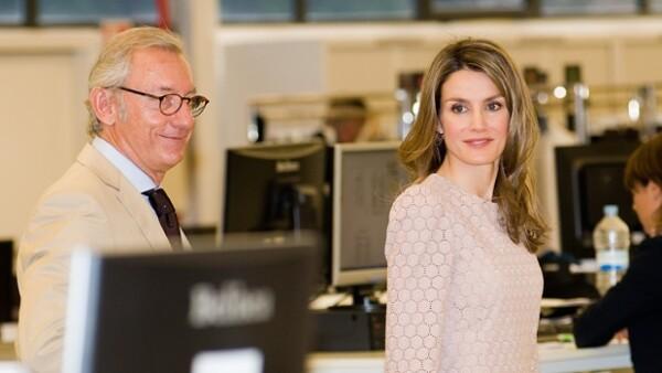 La Princesa de Asturias apoya la industria nacional usando la marca española, cuyo centro de diseño visitó el día de ayer en Barcelona para beneplácito de los trabajadores.