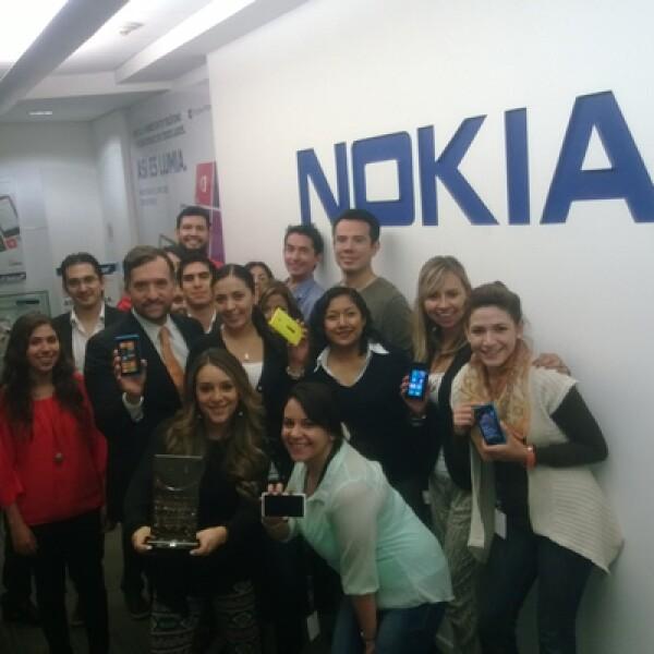 En la categoría de Menos de 500 empleados Nokia se posicionó en el número 9. El personal que ahí labora se siente contento de estar dentro de los primeros diez lugares.