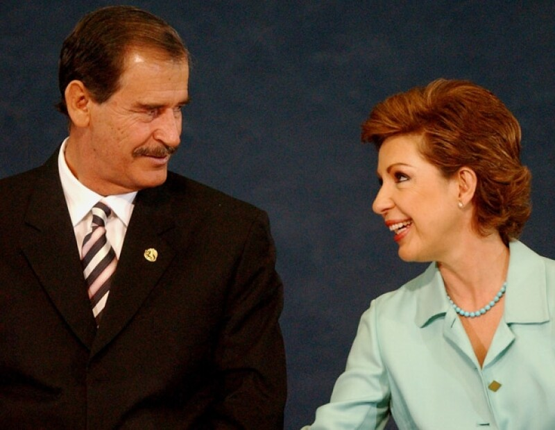 Vicente Fox y Martha Sahagún.