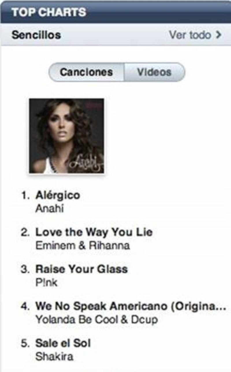 Ayer la cantante lanzó en iTunes el tema musical que está incluido en la `Edición Deluxe de Mi Delirio´ y en menos de 24 horas se colocó en el primer lugar de ventas.