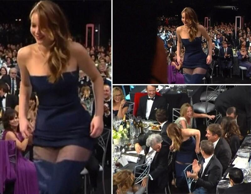 Su vestido Christian Dior se rompió cuando iba al estrado por su premio a Mejor Actriz.