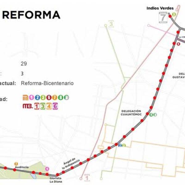 Asi Se Construira La Linea 7 Del Metrobus En Reforma