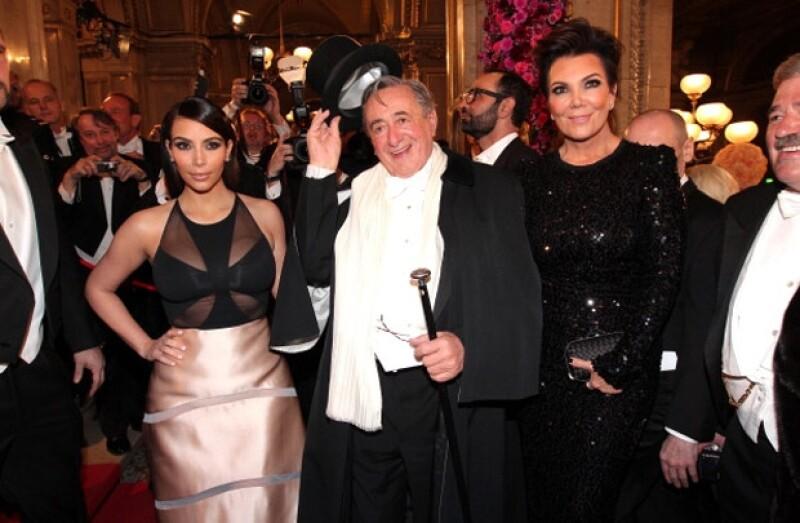 Kim estuvo todo el tiempo en compañía de su famosa mamá.