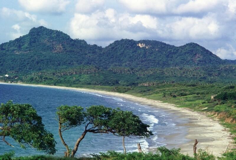 Una de las paradisiacas playas de la Riviera Nayarit.