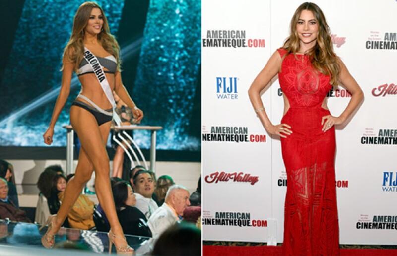 Sofia Vergara y Miss Colombia, Ariadna Gutiérrez, comparte nacionalidad y un gran parecido físico.