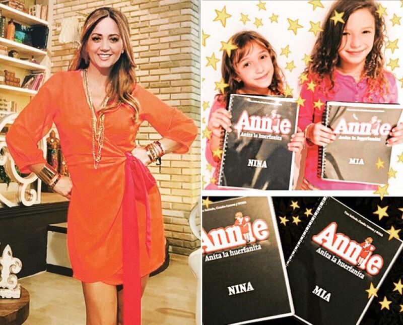 """Mía y Nina serán las protagonistas de la puesta en escena que estrena en octubre en México, por lo que la conductora de """"Hoy"""" habla con orgullo de cómo las pequeñas viven esta experiencia."""