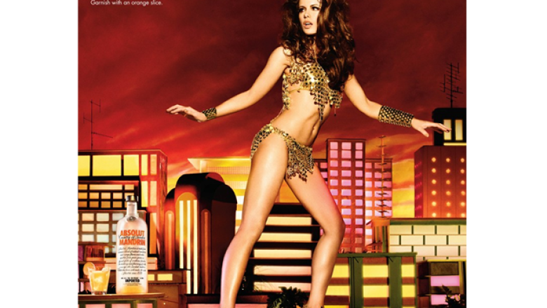 Kate Beckinsale para Absolut