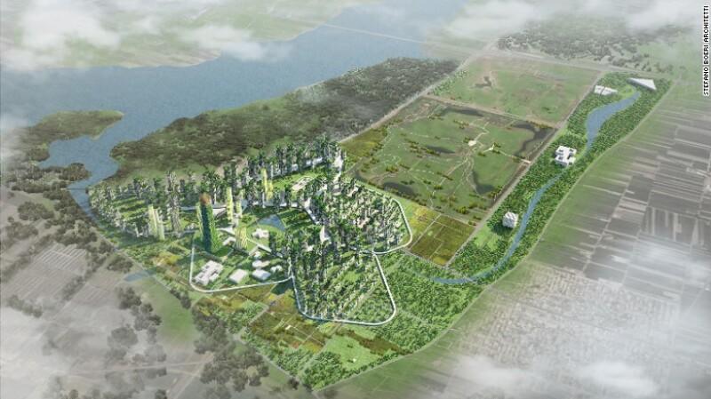 La Ciudad-Bosque de Shijiazhuang, China