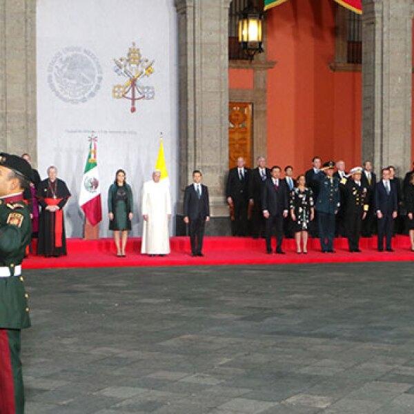 Así lució la comitiva en Palacio Nacional