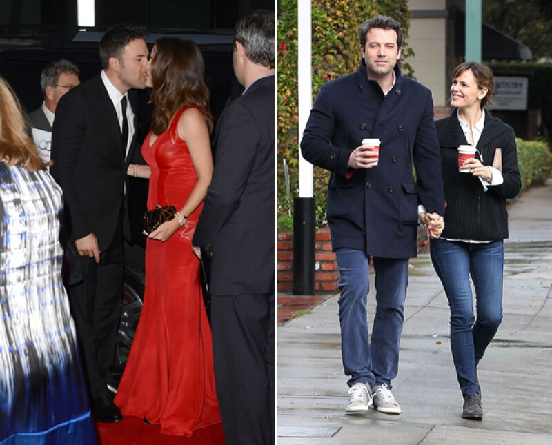 Ben lucía enamorado de Jennifer Garner, dentro y fuera de los eventos de Hollywood.