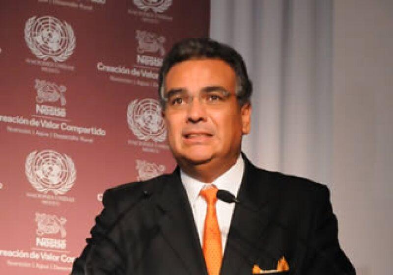 Juan Carlos Marroquín, presidente ejecutivo de Nestlé México, expuso la filosofía de Creación de Valor Compartido en un foro coordinado en alianza con la ONU. (Foto: Cortesía)