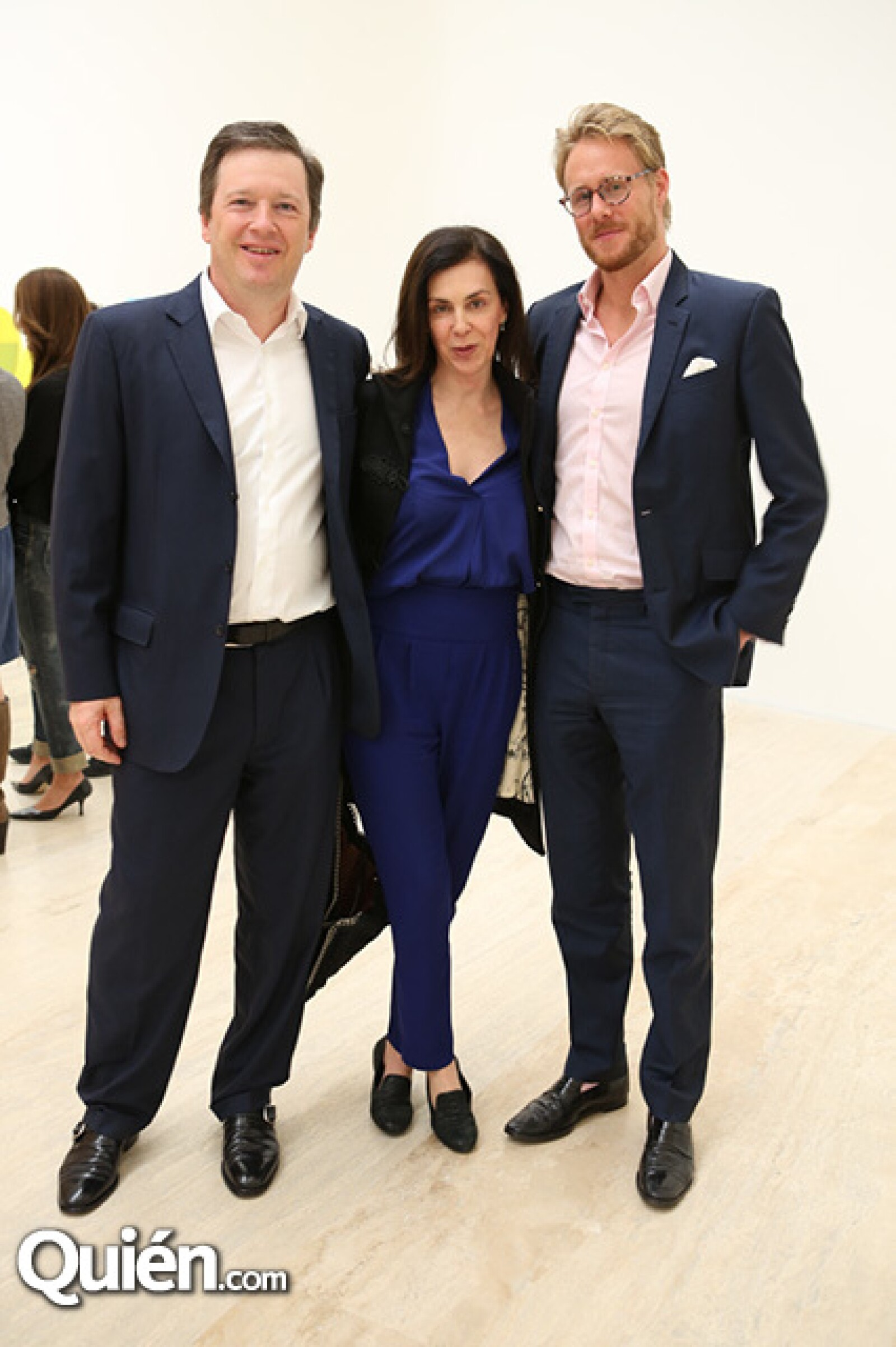 Damian Fraser,Claudia Marcucetti y Harry Beamish