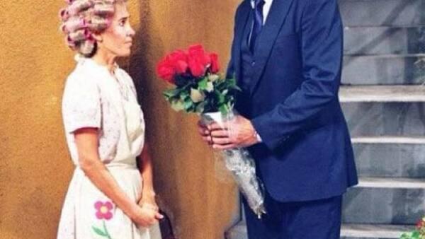"""Los actores Florinda Meza y Rubén Aguirre, quienes en el pasado interpretaron a una de las parejas más representantivas de """"El Chavo del 8"""", se reunieron el viernes pasado en Puerto Vallarta."""