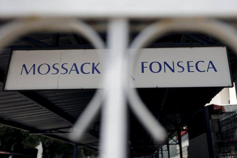 Cartel de Mossack Fonsseca en Ciudad de Panamá