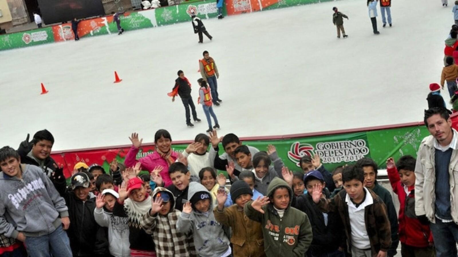 pista de hielo en Zacatecas